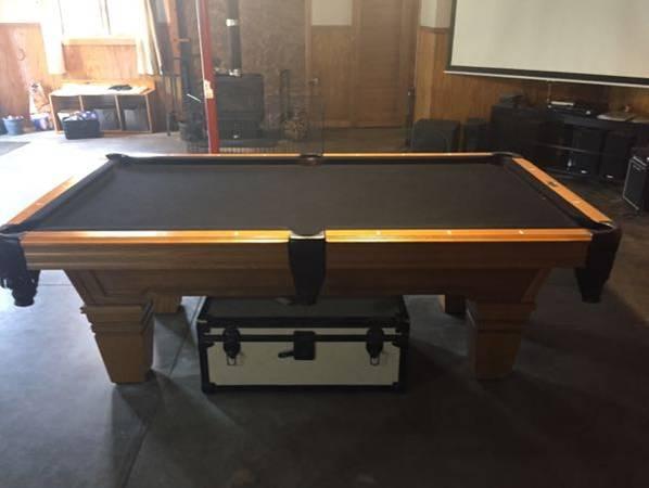 Solo 174 Grand Rapids Solid Oak Custom Pool Table 87