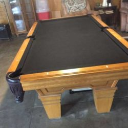 Solid Oak Custom Pool Table