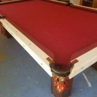 Antique Early 1900's Brunswick Pool Table